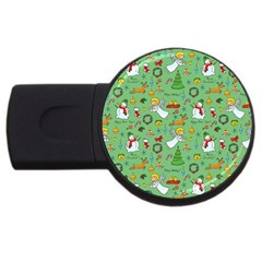 Christmas Pattern Usb Flash Drive Round (2 Gb) by Valentinaart