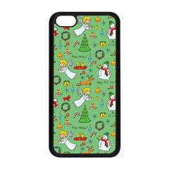 Christmas Pattern Apple Iphone 5c Seamless Case (black) by Valentinaart