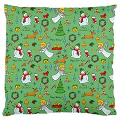 Christmas Pattern Large Flano Cushion Case (one Side) by Valentinaart