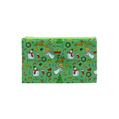 Christmas Pattern Cosmetic Bag (xs) by Valentinaart