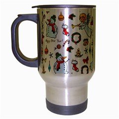 Christmas Pattern Travel Mug (silver Gray) by Valentinaart