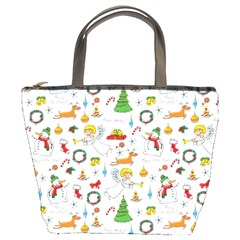 Christmas Pattern Bucket Bags by Valentinaart