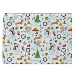 Christmas Pattern Cosmetic Bag (xxl)  by Valentinaart