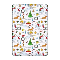 Christmas Pattern Apple Ipad Mini Hardshell Case (compatible With Smart Cover) by Valentinaart