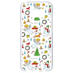 Christmas Pattern Samsung Galaxy S8 White Seamless Case by Valentinaart