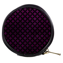 Circles3 Black Marble & Purple Leather Mini Makeup Bags by trendistuff