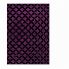 Circles3 Black Marble & Purple Leather Large Garden Flag (two Sides) by trendistuff