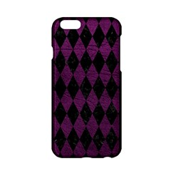 Diamond1 Black Marble & Purple Leather Apple Iphone 6/6s Hardshell Case by trendistuff