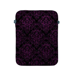 Damask1 Black Marble & Purple Leather (r) Apple Ipad 2/3/4 Protective Soft Cases by trendistuff