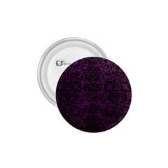 Damask2 Black Marble & Purple Leather 1 75  Buttons by trendistuff