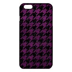 Houndstooth1 Black Marble & Purple Leather Iphone 6 Plus/6s Plus Tpu Case by trendistuff
