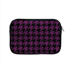 Houndstooth1 Black Marble & Purple Leather Apple Macbook Pro 15  Zipper Case by trendistuff