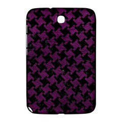 Houndstooth2 Black Marble & Purple Leather Samsung Galaxy Note 8 0 N5100 Hardshell Case  by trendistuff