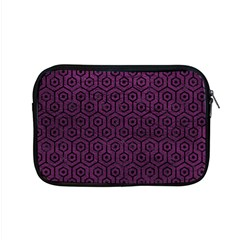 Hexagon1 Black Marble & Purple Leather Apple Macbook Pro 15  Zipper Case