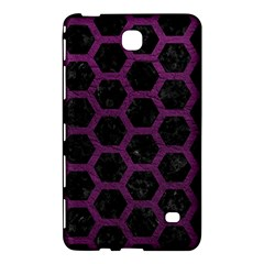 Hexagon2 Black Marble & Purple Leather (r) Samsung Galaxy Tab 4 (8 ) Hardshell Case  by trendistuff
