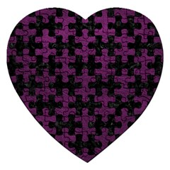 Puzzle1 Black Marble & Purple Leather Jigsaw Puzzle (heart) by trendistuff