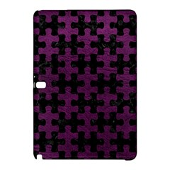 Puzzle1 Black Marble & Purple Leather Samsung Galaxy Tab Pro 12 2 Hardshell Case by trendistuff