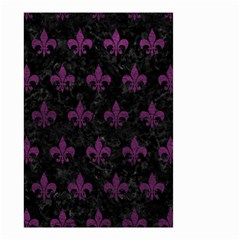 Royal1 Black Marble & Purple Leather Small Garden Flag (two Sides) by trendistuff