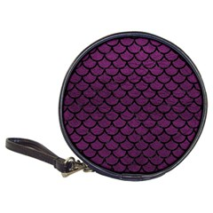 Scales1 Black Marble & Purple Leather Classic 20 Cd Wallets by trendistuff