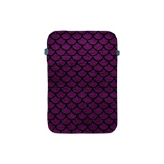 Scales1 Black Marble & Purple Leather Apple Ipad Mini Protective Soft Cases by trendistuff