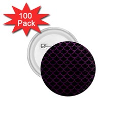 Scales1 Black Marble & Purple Leather (r) 1 75  Buttons (100 Pack)  by trendistuff