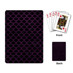 Scales1 Black Marble & Purple Leather (r) Playing Card by trendistuff