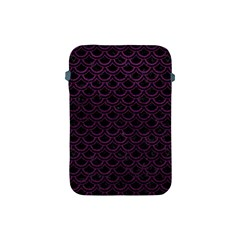 Scales2 Black Marble & Purple Leather (r) Apple Ipad Mini Protective Soft Cases by trendistuff