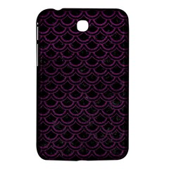 Scales2 Black Marble & Purple Leather (r) Samsung Galaxy Tab 3 (7 ) P3200 Hardshell Case  by trendistuff