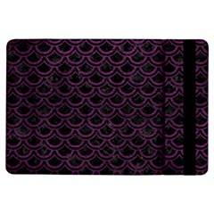 Scales2 Black Marble & Purple Leather (r) Ipad Air Flip by trendistuff