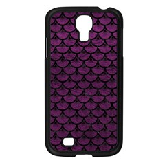 Scales3 Black Marble & Purple Leather Samsung Galaxy S4 I9500/ I9505 Case (black)