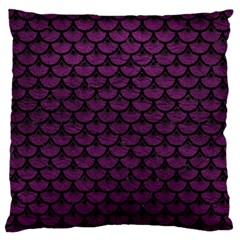 Scales3 Black Marble & Purple Leather Standard Flano Cushion Case (one Side) by trendistuff