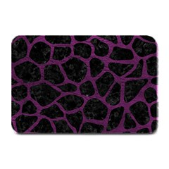 Skin1 Black Marble & Purple Leather Plate Mats by trendistuff