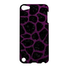 Skin1 Black Marble & Purple Leather Apple Ipod Touch 5 Hardshell Case by trendistuff
