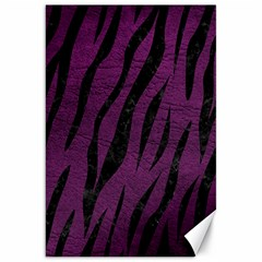 Skin3 Black Marble & Purple Leather Canvas 20  X 30   by trendistuff