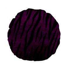 Skin3 Black Marble & Purple Leather Standard 15  Premium Flano Round Cushions by trendistuff