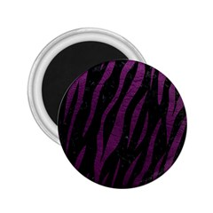 Skin3 Black Marble & Purple Leather (r) 2 25  Magnets by trendistuff