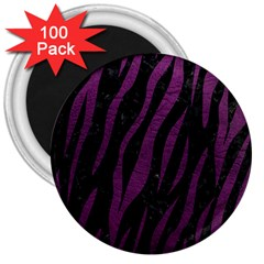 Skin3 Black Marble & Purple Leather (r) 3  Magnets (100 Pack) by trendistuff