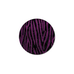 Skin4 Black Marble & Purple Leather Golf Ball Marker (4 Pack)