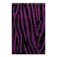 Skin4 Black Marble & Purple Leather Shower Curtain 48  X 72  (small)  by trendistuff