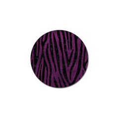 Skin4 Black Marble & Purple Leather (r) Golf Ball Marker by trendistuff