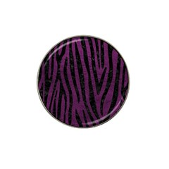 Skin4 Black Marble & Purple Leather (r) Hat Clip Ball Marker (10 Pack) by trendistuff