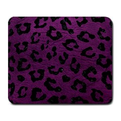 Skin5 Black Marble & Purple Leather (r) Large Mousepads by trendistuff