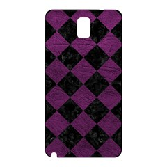 Square2 Black Marble & Purple Leather Samsung Galaxy Note 3 N9005 Hardshell Back Case