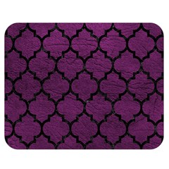 Tile1 Black Marble & Purple Leather Double Sided Flano Blanket (medium)  by trendistuff