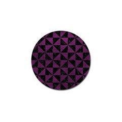 Triangle1 Black Marble & Purple Leather Golf Ball Marker (4 Pack) by trendistuff