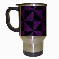 Triangle1 Black Marble & Purple Leather Travel Mugs (white) by trendistuff