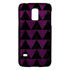 Triangle2 Black Marble & Purple Leather Galaxy S5 Mini by trendistuff