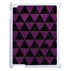 Triangle3 Black Marble & Purple Leather Apple Ipad 2 Case (white) by trendistuff