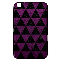 Triangle3 Black Marble & Purple Leather Samsung Galaxy Tab 3 (8 ) T3100 Hardshell Case  by trendistuff