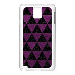Triangle3 Black Marble & Purple Leather Samsung Galaxy Note 3 N9005 Case (white) by trendistuff